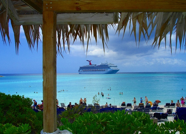 Carnival Liberty Passengers at Half Moon Cay